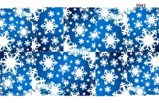 Слайдер дизайн белые прозрачные снежинки S943