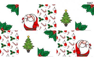 Слайдер дизайн рождественский новогодний набор S947