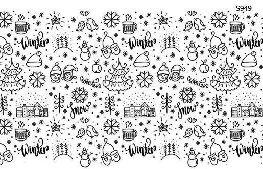 Слайдер дизайн зима, новый год, снег S949