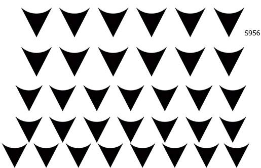 Слайдер дизайн вогнутые треугольники лунки S956