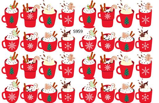 Слайдер дизайн чашки кофе красные S959