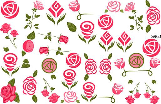 Слайдер дизайн розы абстрактные S963