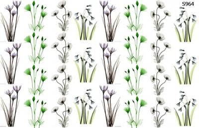 Слайдер дизайн мелкие цветочки S964