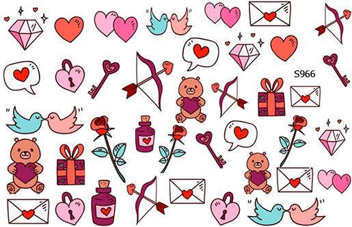 Слайдер дизайн набор на день влюбленных, день валентина S966