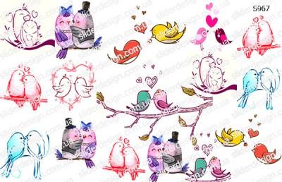 Слайдер дизайн птички любовь S967
