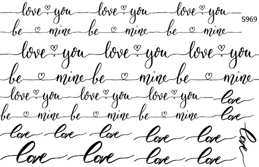 Слайдер дизайн Love, любовь рукопись S969