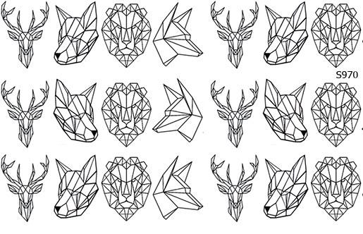 Слайдер дизайн геометрия животные, строгие линии S970