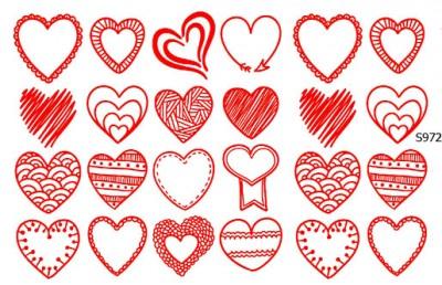 Слайдер дизайн сердце набор на день Валентина S972