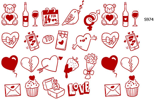 Слайдер дизайн валентинка, любовь, праздник S974