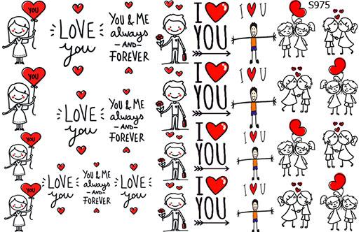 Слайдер дизайн любовь, надписи, человечки S975