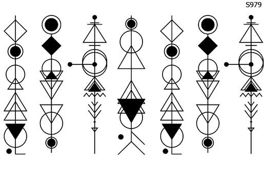 Слайдер дизайн геометрические символы S979