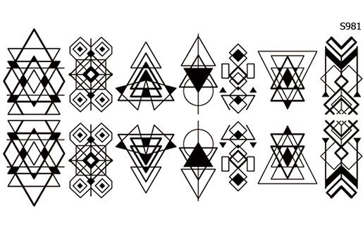 Слайдер дизайн геометрический рисунок S981