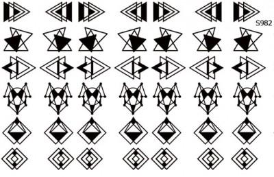 Слайдер дизайн геометрические фигуры S982