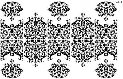 Слайдер дизайн цветочное кружево S984