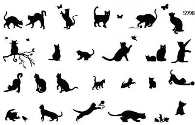 Слайдер дизайн кошечки, котята S998
